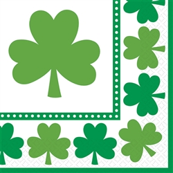 Lucky Shamrocks Luncheon Napkins | St. Patrick's Day Tableware