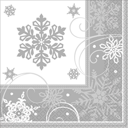 Sparkling Snowflake Luncheon Napkins | Party Supplies