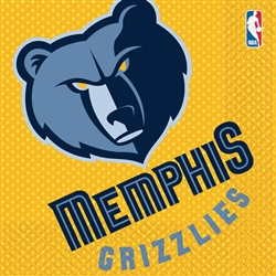 Memphis Grizzlies Luncheon Napkins | Party Supplies