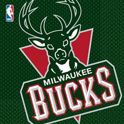 Milwaukee Bucks Luncheon Napkins | Party Supplies