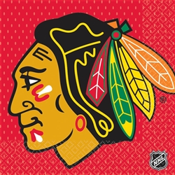 Chicago Blackhawks Luncheon Napkins | Party Supplies