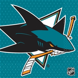 San Jose Sharks Luncheon Napkins | Party Supplies