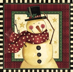 Cozy Snowman Luncheon Napkins | Party Supplies