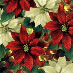 Regal Poinsettia Luncheon Napkins | Party Supplies