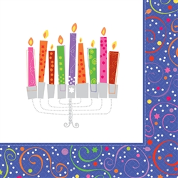 Playful Menorah Luncheon Napkins | Party Supplies