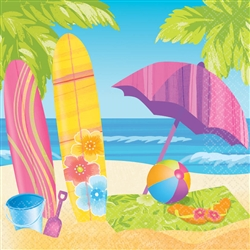 Surf's Up Luncheon Napkins | Luau Party Supplies
