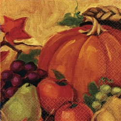 Harvest Still Life Luncheon Napkins | Party Supplies