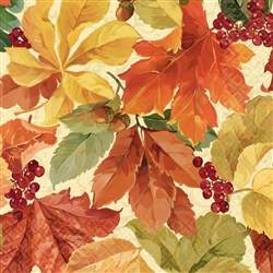 Elegant Leaves Luncheon Napkins | Party Supplies