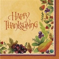 Thanksgiving Medley Luncheon Napkins | Party Supplies