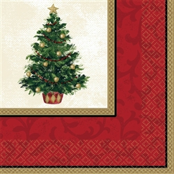 Classic Christmas Tree Luncheon Napkins | Party Supplies