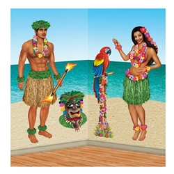 Hula Girl & Polynesian Guy Props