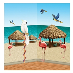 Tiki Hut & Tropical Bird Props