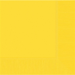 Yellow Sunshine 3-Ply Dinner Napkins - 20ct | Party Supplies