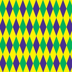 Mardi Gras Harlequin Backdrop | Party Supplies