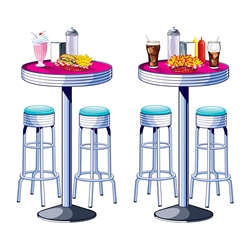 Soda Shop Tables & Stools Props