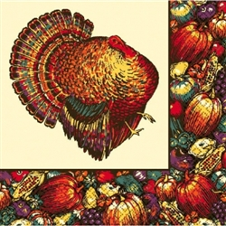 Autumn Turkey Dinner Napkins | Party Supplies