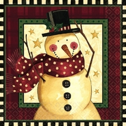 Cozy Snowman Dinner Napkins | Party Supplies