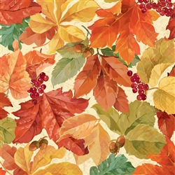 Elegant Leaves Dinner Napkins | Party Supplies
