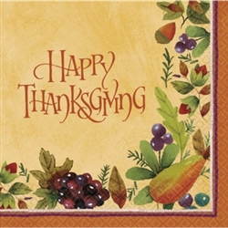 Thanksgiving Medley Dinner Napkins | Party Supplies