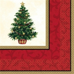Classic Christmas Tree Dinner Napkins | Party Supplies
