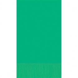 Festive Green 3-Ply Guest Towel - 16ct | Party Supplies