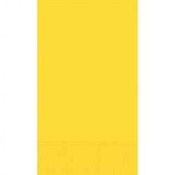 Yellow Sunshine 3-Ply Guest Towel - 16ct | Party Supplies