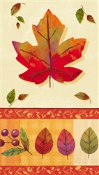 Watercolor Leaves Guest Towels | Party Supplies