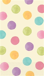 Soft Watercolor Dots Guest Towels | Party Supplies