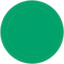 "Festive Green 7"" Round Paper Plates - 8ct 