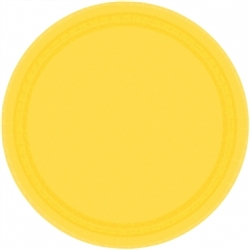 "Yellow Sunshine 7"" Round Paper Plates - 8ct 
