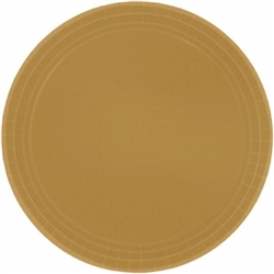 "Gold Paper 7"" Plates - 8ct. 