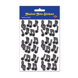 Black Musical Note Stickers