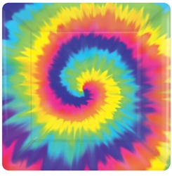 "Feeling Groovy 7"" Square Paper Plates 