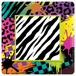 "Totally 80's 7"" Square Paper Plates 