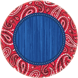 "Bandana & Blue Jeans 7"" Round Plates 