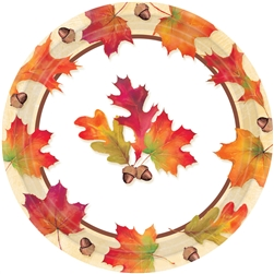 "Autumn Days 7"" Paper Plates 
