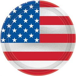 "Let Freedom Ring 7"" Metallic Round Plates 