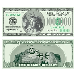 Big Bucks Cutout $1,000,000 Bill