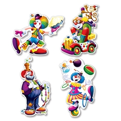 Clown Cutouts