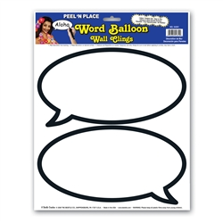 Word Balloon Peel 'N Place