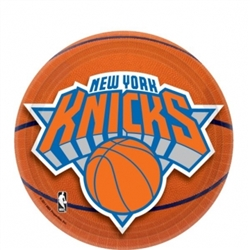 "New York Knicks 7"" Round Paper Plates 