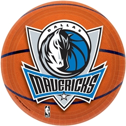 "Dallas Mavericks 7"" Round Paper Plates 