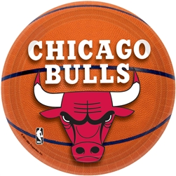 "Chicago Bulls 7"" Round Paper Plates 