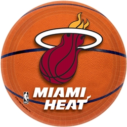 "Miami Heat 7"" Round Paper Plates 