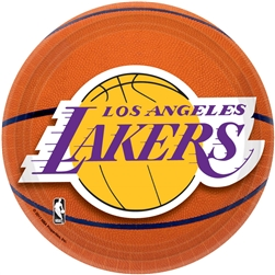 "LA Lakers 7"" Round Paper Plates 