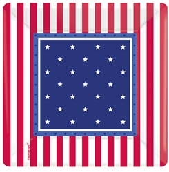 "American Classic 7"" Square Plates 