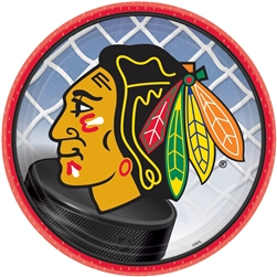 "Chicago Blackhawks 7"" Round Paper Plates 