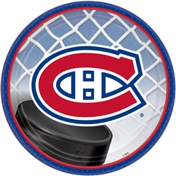 "Montreal Canadiens 7"" Round Paper Plates 