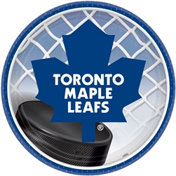 "Toronto Maple Leafs 7"" Round Paper Plates 