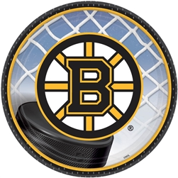 "Boston Bruins 7"" Round Paper Plates 